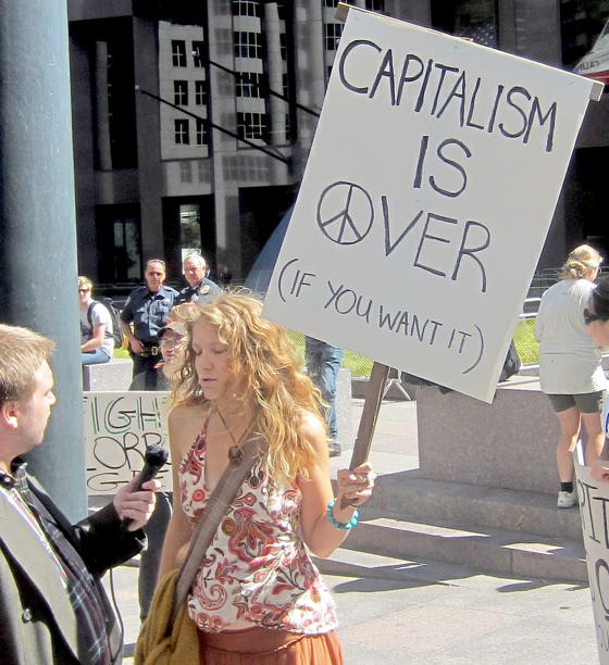 Is Obama making a huge error by organizing protests against capitalism?