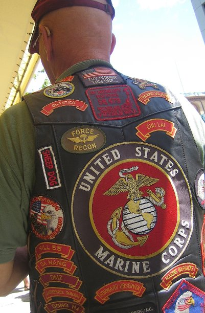 Marine Corps Tattoos Volume 4. A prototypical Marine Corps veteran. Code Pink and World Can't Wait would