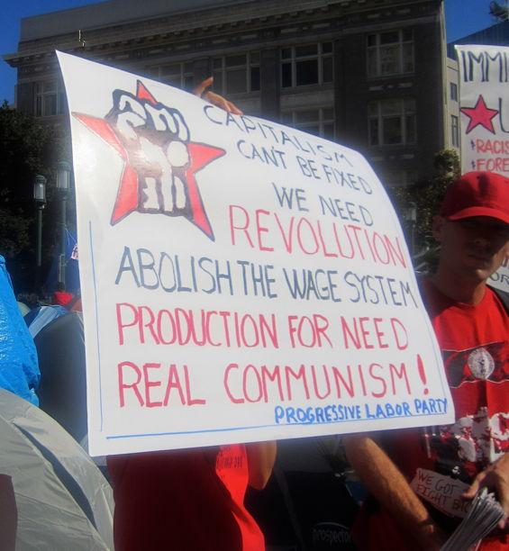 Occupy Oakland Progressive Labor party marxist communist