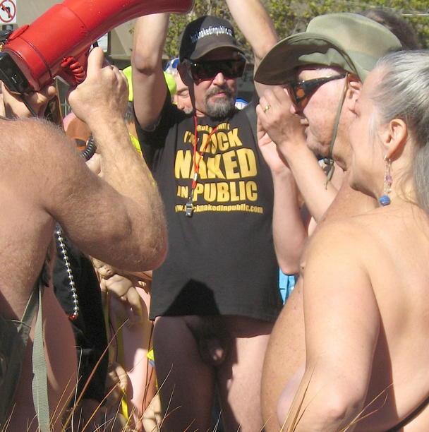 Erect penis in public