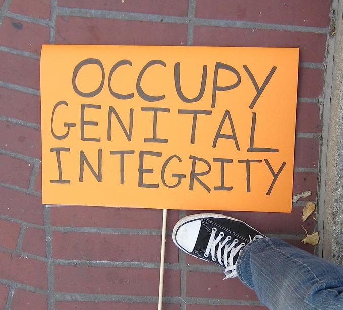 ... circumcised, the argument being, I imagine, that hospitals circumcise ...